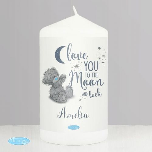 Personalised Me to You Love You to the Moon and Back Pillar Candle